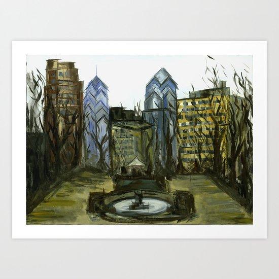 Rittenhouse Square in the Winter Art Print