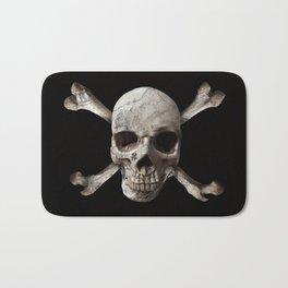 Jolly Roger - Black and Bone Bath Mat
