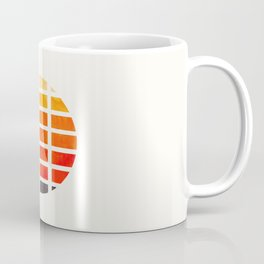 Watercolor Colorful Orange Minimalist Mid Century Modern Square Matrix Geometric Pattern Round Circl Coffee Mug