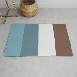 Parable to Behr Blueprint Color of the Year and Accent Colors Vertical Stripes 14 Rug