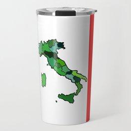 Map of Italy and Italian Flag Travel Mug
