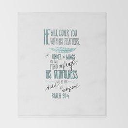 Psalm 91:4 Throw Blanket