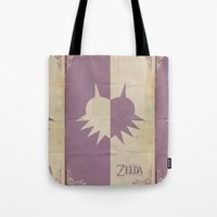 majoras mask Tote Bags featuring Majoras Mask by cbrucc