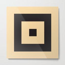 beige et noir Metal Print