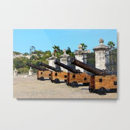 Cannons at Morro Castle Metal Print