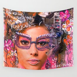 Think pink, have fun... Wall Tapestry