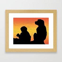 TAIF MONKEY Framed Art Print