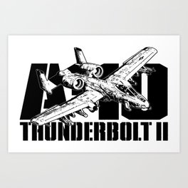 A-10 Thunderbolt II Art Print