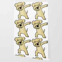 Dabbing Labrador Retriever Dog Dab Dance Wallpaper
