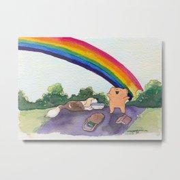The Best Ber Rainbow Dog Metal Print
