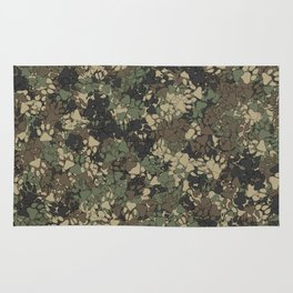 Wolf paw prints camouflage Rug
