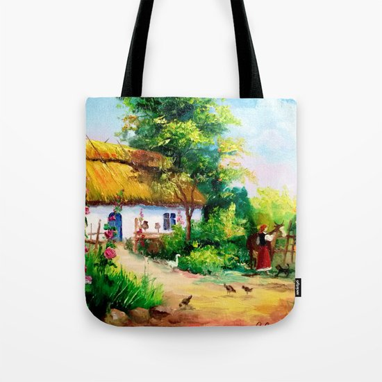 Village house Tote Bag
