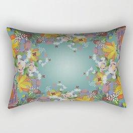 Encircled Garden (Light Teal) Rectangular Pillow