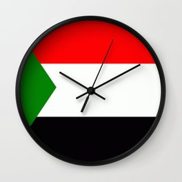 Flag of Sudan Wall Clock