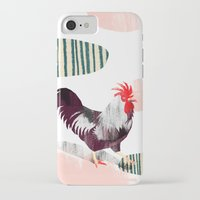 rooster iPhone & iPod Cases featuring Rooster by Claudia Voglhuber