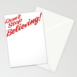 Don't Stop Believing Unicorn Stationery Cards