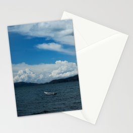 Titicaca lake raft Stationery Cards