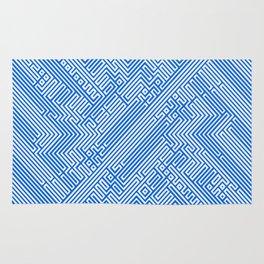Optical Chaos 05 blue Rug