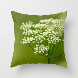 White summer Throw Pillow