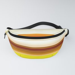 summer sunshine striped pattern Fanny Pack