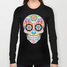 Sugar Skull Art (Jubilee) Long Sleeve T-shirt