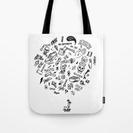 Rider Pattern Tote Bag