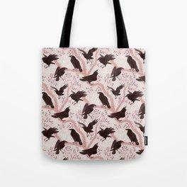 Crows pattern Tote Bag