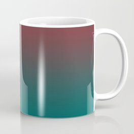 Ombre Quetzal Green Dark Red Pear Gradient Pattern Coffee Mug