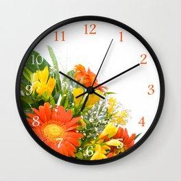 Arranged wedding handheld bouquet Wall Clock