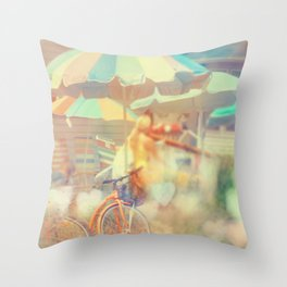 Seaside Town Throw Pillow