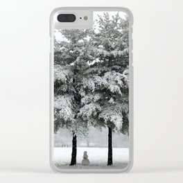 its snowing Clear iPhone Case