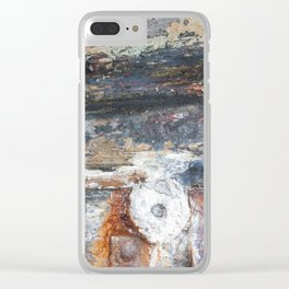 Flaky Blue Clear iPhone Case
