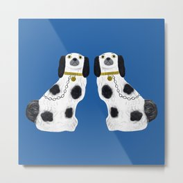 Pair of Staffordshire Dogs Metal Print