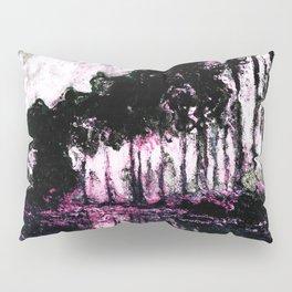 Monet Poplars on the Banks of the River Epte Pink Dark Pillow Sham