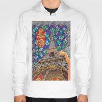 eiffel tower Hoodies featuring Eiffel Tower by Art By Carob