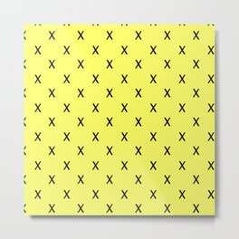 X Cross Mark on yellow classy background Metal Print