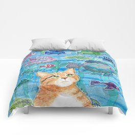 Cat and Fish Comforters