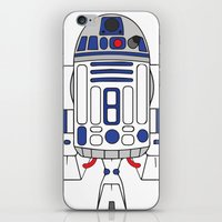r2d2 iPhone & iPod Skins featuring R2D2 by Gyunjoo Kim