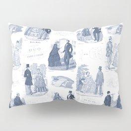 Biedermeier Blue Romance Pillow Sham
