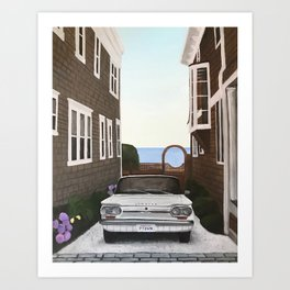 Chevy corvair Art Print