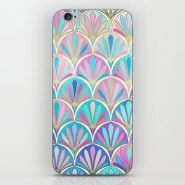 Glamorous Twenties Art Deco Pastel Pattern iPhone Skin