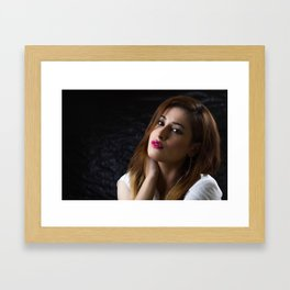 Beautiful woman portrait Framed Art Print