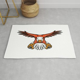 Bald Eagle Swooping Front Mascot Rug
