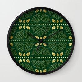 Emerald Art Deco Fan Wall Clock
