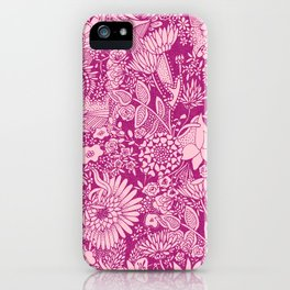 Pink Floral Pattern by Hayley Lauren Design  iPhone Case