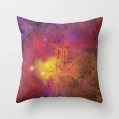 Nebula (Text) Throw Pillow