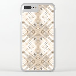 Beige abstract pattern . Clear iPhone Case