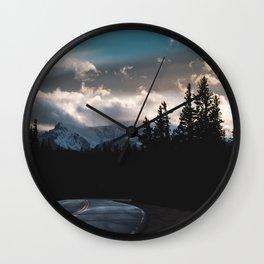Mount Evans Sunset Wall Clock