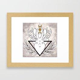 Lunar Rabbit / Jackalope Framed Art Print