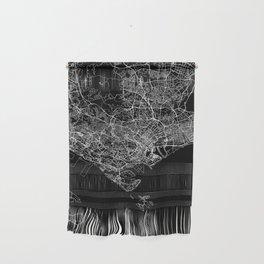 Singapore Black Map Wall Hanging